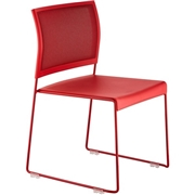 Safco Products Safco Currant Mesh Back Guest Stack Chairs - 4/CT