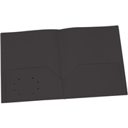 TOPS Products Oxford Black Two Pocket Poly Portfolio