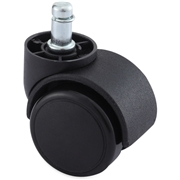 Lorell Soft Wheel B Stem Oversized Safety Casters