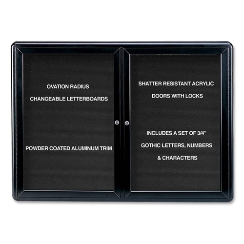 Ghent Manufacturing, Inc Ghent Ovation OVK2-B Changeable Letter Board