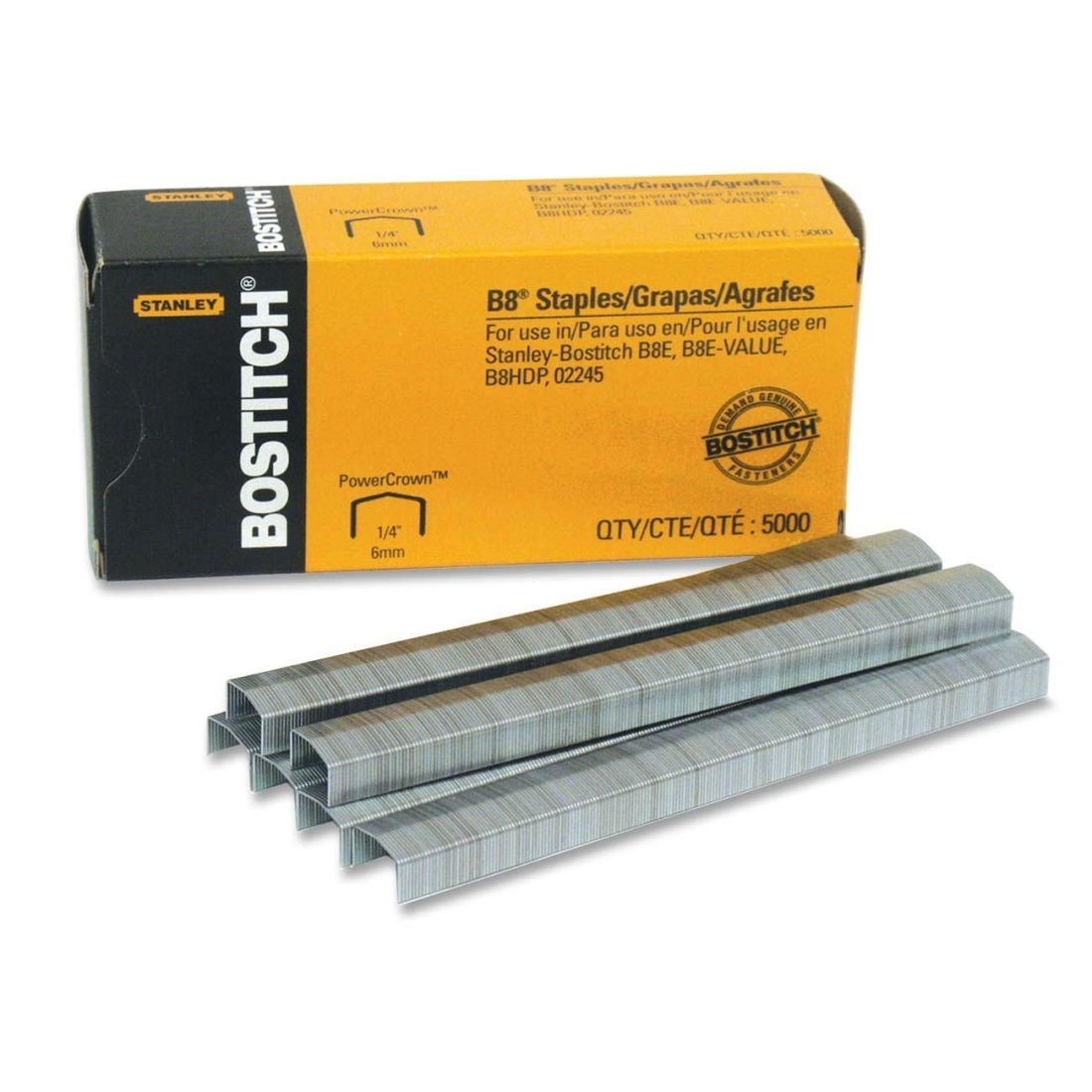 Amax Inc Stanley-Bostitch B8 Power Crown Staples
