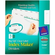 Avery Big Tab Index Maker Clear Label Divider
