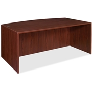 Lorell Essentials Bowfront Desk Shell
