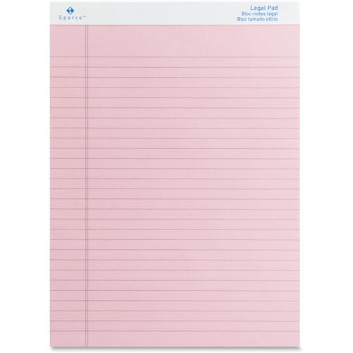 Sparco Products Sparco Pink Legal Ruled Pad