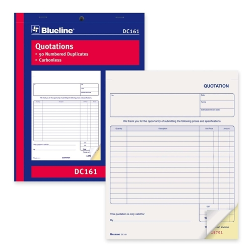 Blueline Quotation Order Form