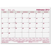 Brownline Monthly Planning Desk Calendar Refill