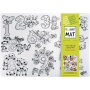 Funny Mat Reusable Tabletop Coloring Mat