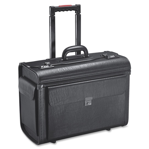 Holiday Group, Inc Holiday SA0801 Carrying Case (Roller) for Notebook, File Folder - Black