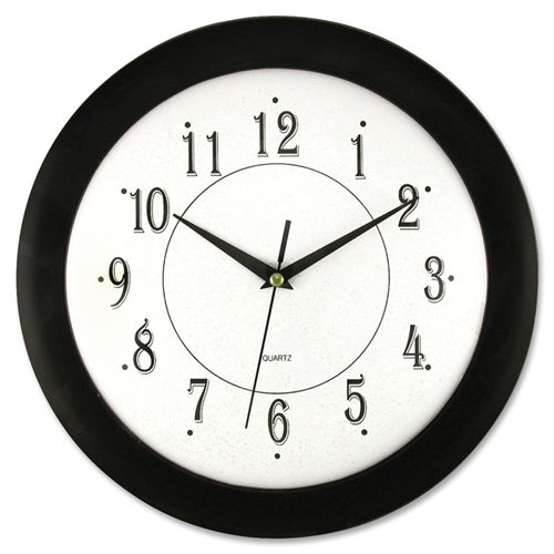 "Artistic Products, LLC Artistic 12"" Black Frame Round Wall Clock"