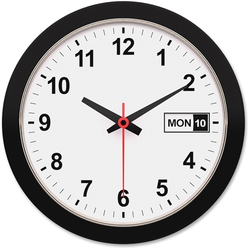 "Artistic Products, LLC Artistic 12"" Round Black Frame Wall Clock"