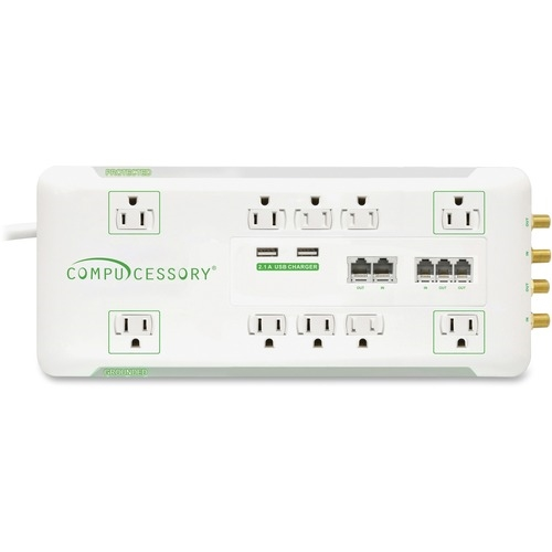 Compucessory Slim 10-Outlet Surge Protector