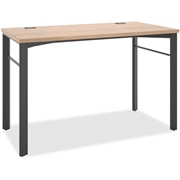 The HON Company Basyx by HON Manage Series Wheat/Ash Desk Table