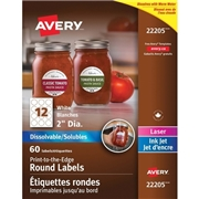 Avery® Dissolvable Print-to-the-Edge Round Labels