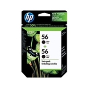 HP #56 Twin Pack (C9319FC#140 Twin Pack) OEM Ink Cartridge