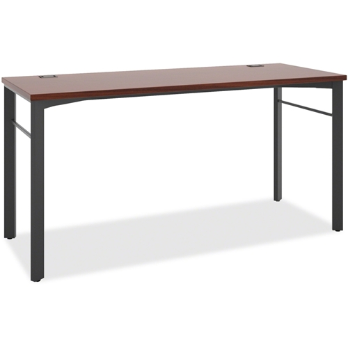 The HON Company Basyx by HON Manage Series Chestnut Desk Table