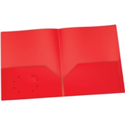 TOPS Products Oxford Red Two Pocket Poly Portfolio