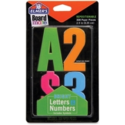 Elmer's Bright Letters Numbers and Symbols Stickers
