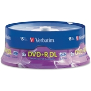 Verbatim America, LLC Verbatim 95484 DVD Recordable Media - DVD+R DL - 8x - 8.50 GB - 15 Pack Spindle
