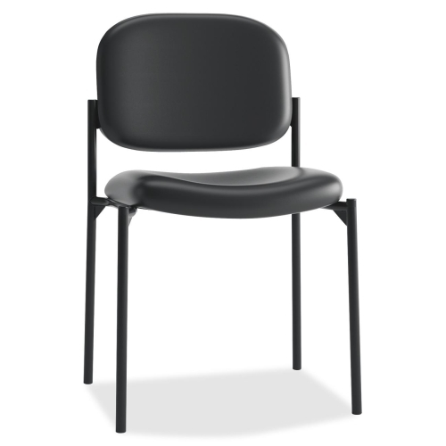 The HON Company Basyx by HON Leather Guest Chair w/o Arms