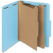 Smead Manufacturing Company Smead 14021 Blue 100% Recycled Pressboard Colored Classification Folders