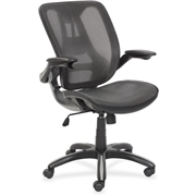 Lorell Mesh Back Chair with Flip-Up Arms