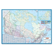 Canadian Cartographics Corporation CCC Laminated Detailed Canada Wall Map