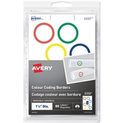 Avery® Colour Coding Border Round Labels