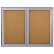 Ghent 2-Door Indoor Enclosed Bulletin Board