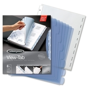 Wilson Jones View-Tab Transparent Divider